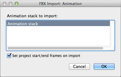 FBX Import: Animation