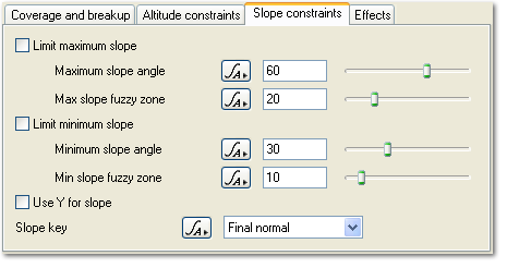 Surface Layer - Slope Constraints Tab