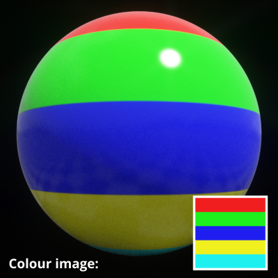 Image map assigned to Colour image setting.