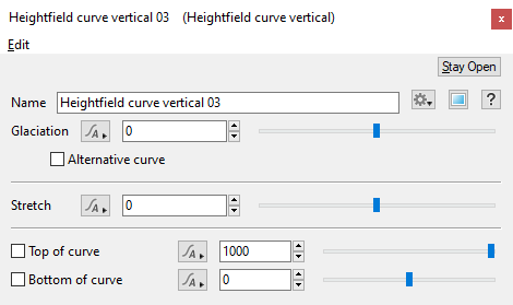 Heightfield Curve Vertical