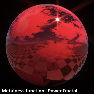 Power fractal v3 shader assigned to Metalness function.