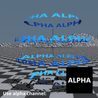 Use alpha channel enabled.