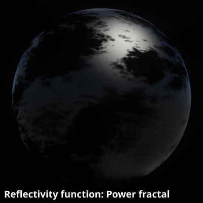 Power fractal v3 assigned to Reflectivity function.