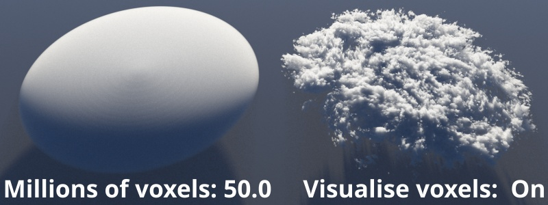 Visualise voxels on.  Millions of voxels - 50.0