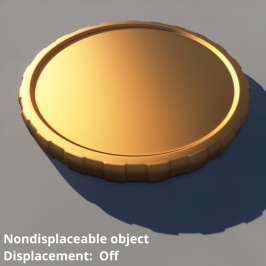 Non-displaceable 3D object (OBJ format) without displacement.