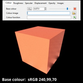 Base colour sRGB 240,99,70 chosen via the Colour Picker pane.
