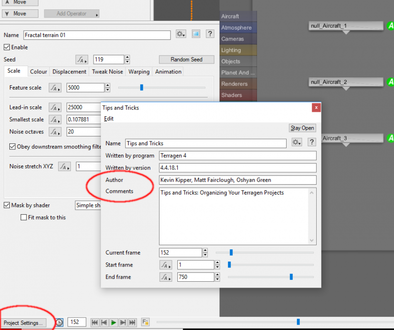 Project Settings dialog pane