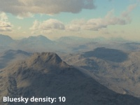 Bluesky density = 10