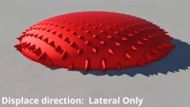 Displace direction: Lateral only