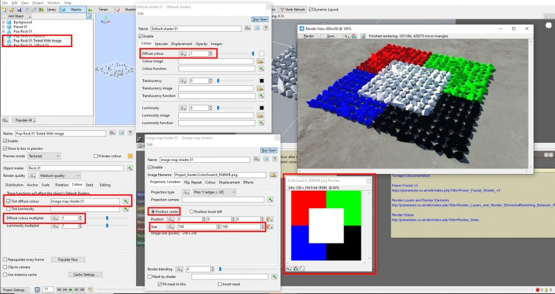 Using an image texture map shader the Tint diffuse colour.