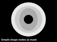 Simple shape shader assigned to Depth modulator in above example images.