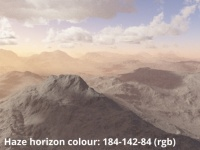 Horizon colour 184,132,84 (rbg)