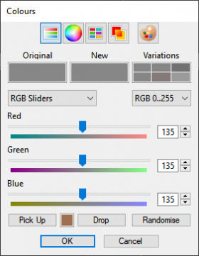 Colour picker values for Bluesky horizon colour.