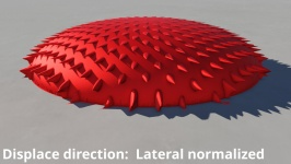 Displace direction: Lateral normalized